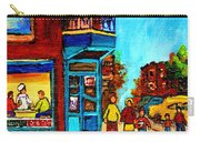 Wilensky's Lunch Counter With School Bus Montreal Street Scene Carry-all Pouch