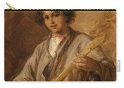 Wilhelm Amardus Beer, Portrait Of A Musician Boy Carry-all Pouch