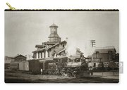 Wilkes Barre Pa. New Jersey Central Train Station Early 1900's Carry-all Pouch