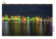Willemstad And Queen Emma Bridge At Night Carry-all Pouch