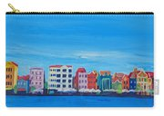 Willemstad Curacao Waterfront In Blue Carry-all Pouch