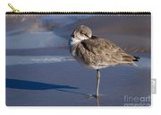 Willet Resting At The Beach Carry-all Pouch