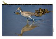 Willet Searching For Food In An Oyster Bed Carry-all Pouch