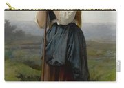 William Bouguereau 1825-1905 French Petite Bergere Carry-all Pouch