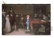 William Frederick Yeames - And When Did You Last See Your Father 1878 Carry-all Pouch
