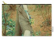 William Henry Margetson, Woman In A Spring Landscape. Carry-all Pouch