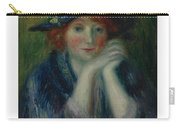 William J. Glackens 1870-1938 1870 - 1938 Portrait Study Of An Artist's Model Carry-all Pouch