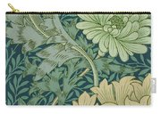 William Morris Wallpaper Sample With Chrysanthemum Carry-all Pouch