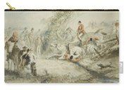 William Simpson,  Paper Hunt At Shanghai, 1874 Carry-all Pouch
