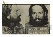Willie Nelson Mug Shot Horizontal Sepia Carry-all Pouch