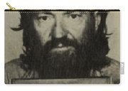 Willie Nelson Mug Shot Vertical Sepia Carry-all Pouch