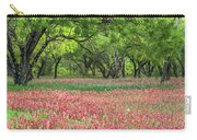 Willows,indian Paintbrush Make For A Colorful Palette. Carry-all Pouch
