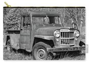 Willys Jeep Pickup Truck Monochrome Carry-all Pouch