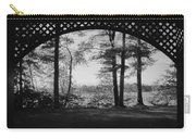 Wilson Pond Framed In Black And White Carry-all Pouch
