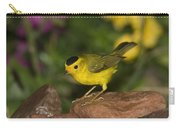 Wilsons Warbler Wilsonia Pusilla Male Carry-all Pouch