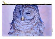 Wind Blown Owl  Carry-all Pouch