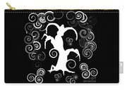 Wind Dancing - White On Black Silhouettes Carry-all Pouch