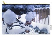 Wind Snow Chimes Carry-all Pouch by Robert Knight