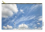 Wind Turbines On A Hill Under A Blue Sky Carry-all Pouch