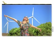 Wind Turbines Woman Carry-all Pouch