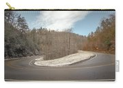 Winding Country Road In Winter Carry-all Pouch
