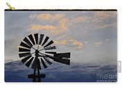 Windmill And Cloud Bank At Sunset Carry-all Pouch