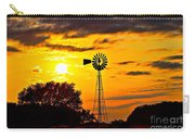 Windmill In Texas Sunset Carry-all Pouch