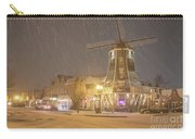 Windmill In The Snow Carry-all Pouch