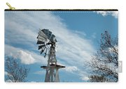 Windmill With White Wood Base Carry-all Pouch