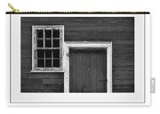 Window And Door Bw Poster Carry-all Pouch