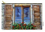 Window Shutters And Flowers IIi Carry-all Pouch