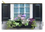 Window Shutters And Flowers Vi Carry-all Pouch