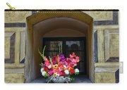 Window Sill Flower Arrangement At Cesky Krumlov Castle In The Czech Republic Carry-all Pouch
