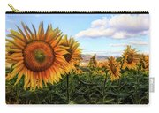 Window To The Sunflower Fields Oil Painting Carry-all Pouch
