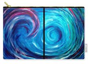 Windswept Blue Wave And Whirlpool 2 Carry-all Pouch