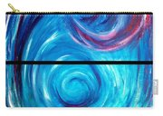 Windwept Blue Wave And Whirlpool Diptych 1 Carry-all Pouch