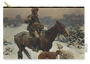 Windy Day By Alfred Wierusz-kowalski Carry-all Pouch