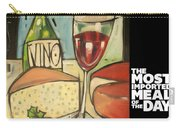 Wine And Cheese Imported Meal Carry-all Pouch