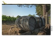 Wine Barrels At Vineyard Carry-all Pouch