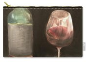 Wine Bottle And Glass Carry-all Pouch