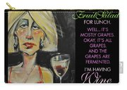 Wine For Lunch Poster Carry-all Pouch
