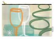 Wine For Two Carry-all Pouch by Linda Woods