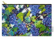 Wine On The Vine Carry-all Pouch by Richard T Pranke
