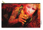 Wine Woman And Fall Colors Carry-all Pouch