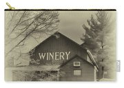 Winery In Sepia Carry-all Pouch