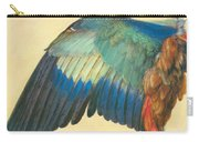 Wing Of A Blue Roller 1512 Carry-all Pouch
