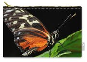 Wing Texture Of Eueides Isabella Longwing Butterfly On A Leaf Ag Carry-all Pouch