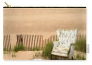 Wingback Chair At The Beach Carry-all Pouch by Jill Battaglia