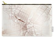 Winnipeg Street Map Colorful Copper Modern Minimalist Carry-all Pouch