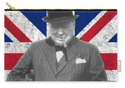 Winston Churchill And Flag Carry-all Pouch